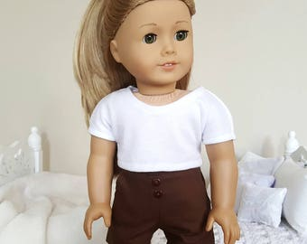 18 inch doll brown shorts