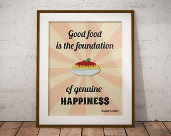 16x20 printable kitchen wall art, instant download, 16x20 print, kitchen decor, inspirational quotes about food, food posters