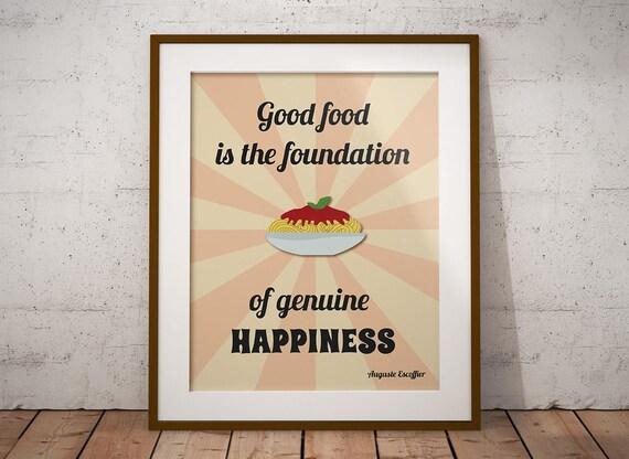 Poster cucina stampabile con citazione sul cibo download
