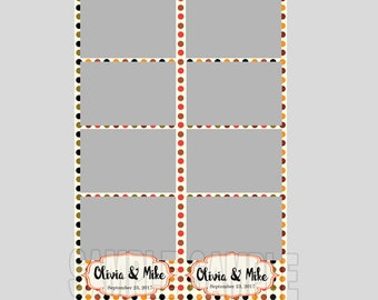 50% off,wedding photo booth template,instant download,autumn polka dots wedding,photo strips,fun wedding,wedding photo strips,fall wedding