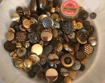Assorted Metal Buttons * Metal Buttons * Craft Buttons * Repurpose * Upcycle * Crafts * Sewing