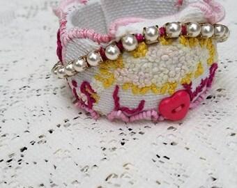 Shabby Chic Upcycled Bracelet