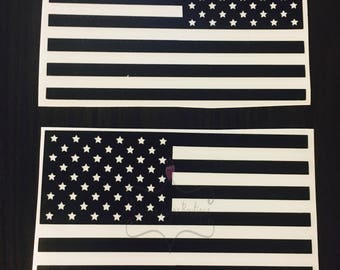 Decal- American Flag Decal (2 included)- Car Decal- Flag Decal