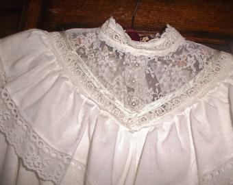 Vintage Gunne Sax girls white lace dress sz 12~Jeunes Filles by Jessica San Francisco ~Easter/Summer dress