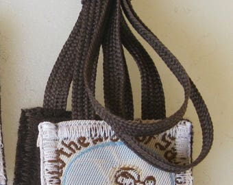 MT. Carmel Scapular, 100% Brown Wool, Traditional Catholic Scapular, Hand Made in USA