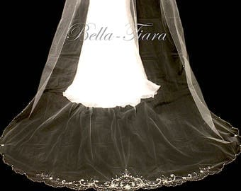 cathedral wedding veil, cathedral veil, crystal cathedral wedding veil, beaded cathedral veil, cathedral bridal veil, beaded veil