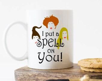 Hocus Pocus mug,  Hocus Pocus gift, Hocus Pocus coffee mug, I put a spell on you mug