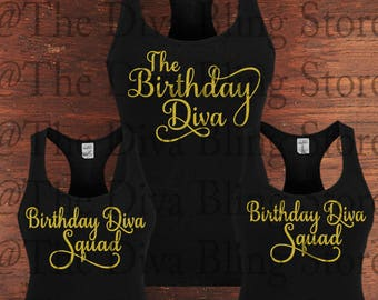 Birthday Diva and Squad  SVG File