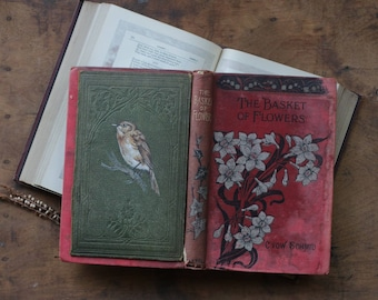 Garden Warbler Bird Painted on Antique Book Cover - Beautiful Piece