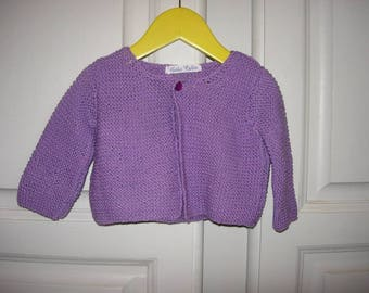 Cotton purple Cardigan