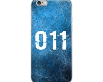 011 Eleven Stranger Things Inspired Blue iPhone Case