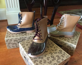 Personalized Duck Boots with FREE Personalized Embroidery Monogram