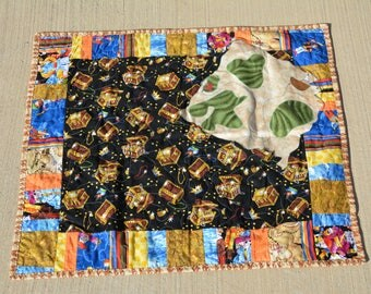 Pirate Map Baby Quilt