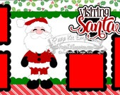 Scrapbook Page Kit Christmas Visiting Santa Boy Girl 2 page Scrapbook Layout Kit 59