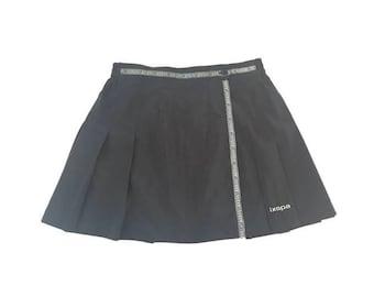 Vintage Black Wrap Tennis Skirt