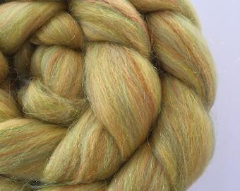Hazel Sparkle Merino and Sparkle blend for spinning and felting 100g