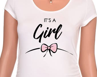 It's A Girl Maternity Shirt, Maternity Shirts, Maternity, Maternity Top, Pregnancy Top, Pregnancy Shirt, Pregnancy Gift, Baby Shower Gift