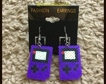 Gameboy Color Perler Bead Earrings