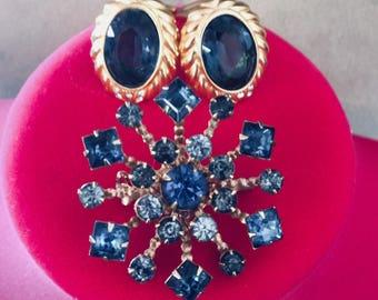 Christian Dior Earrings and Rhinestone Brooch