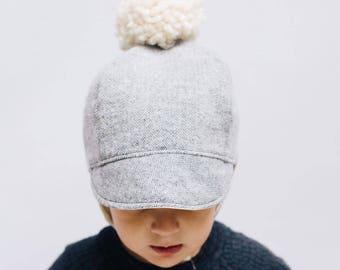 Alpine Winter Cap, Baby Toddler and Kids Sun Hat, Children's Sun Hat, Cap with Chin Straps