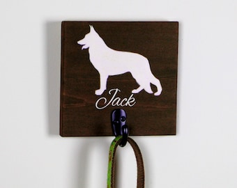 Personalize Your Custom Dog Leash Hook | Leash Holder | Original Painted Dog Breed | Customize Your Name
