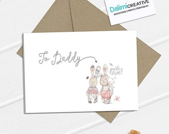 Daddy Father's Day Card - Cute Father's Day Card - Greeting Card!