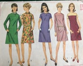 1960s Simplicity Sewing Pattern - used pattern