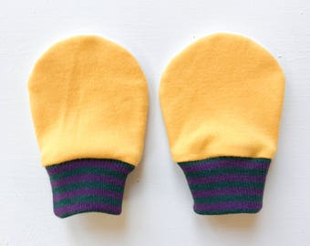 magic baby mitts |  goldenrod