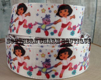3 yards of Dora Grosgrain ribbon