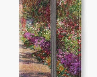 Folio Wallet Case for iPhone 8 Plus, iPhone 8, iPhone 7, iPhone 6 Plus, iPhone SE, iPhone 6, iPhone 5s - The Garden Path at Giverny by Monet
