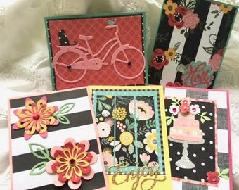 Card Set - Blank Cards - Handmade Cards - Card Assortment - Note Cards - Thank You Cards - Birthday Cards - Bridal Shower Card - All Purpose