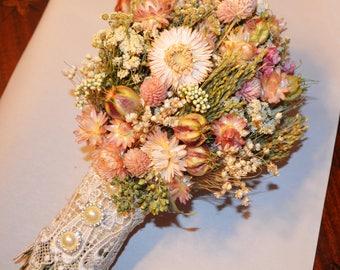 Wedding bouquet, Dried flower wedding bouquet, Dried wedding bouquet