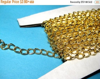 50% OFF Clearance Sale-- Gold Plated Curb Chains Link-Opened 5x3mm( No.731)