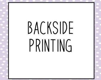 BACKSIDE PRINTING - Upgrade