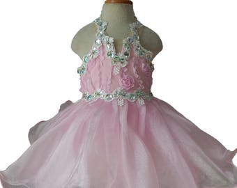 girl pageant dress Y004