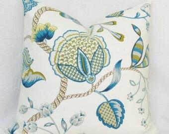Blue pillow covers 18x18 20x20 pillow cover 22x22 pillow cover 24x24 pillow cover 26x26 pillow cover euro sham blue lumbar pillow