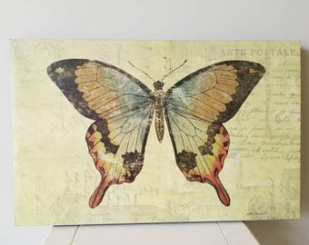 Beautiful Butterfly Art, Butterfly, Decor, Wall Decor, Farmhouse Decor, Wall Picture, Print