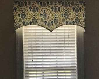 "Scalloped Edge Valance - LINED - choose your own fabric and size - 41"" W x 17"" L"