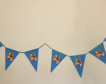 Handmade Sooty and Sweep Bunting