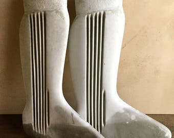 Antique Factory Mold, Sock Stretcher Form, Stocking Leg Form, Hosiery Form