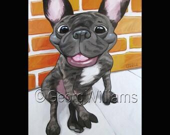 """Pet Portrait Giclee Print """"Duce"""""""