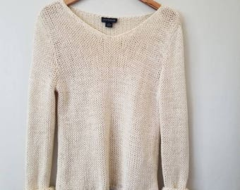 Vintage Minimal Ann Taylor Knitted Pullover