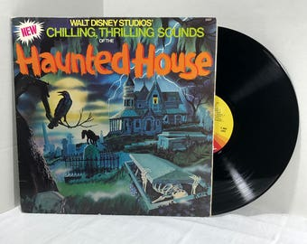 Disney's Chilling, Thrilling Sounds Of The Haunted House Vinyl Record 1979 Halloween Spooky Horror Sound Effects VG+