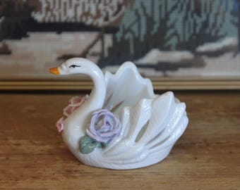 Vintage 1950's beautiful Swan Vase -  Japan .