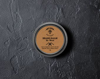 Ho Wood Oil Beard Balm - Natural, Conditioner, Nourishing, Beard styling, Beard moisturizer, Men's skin care, Natural Beard care