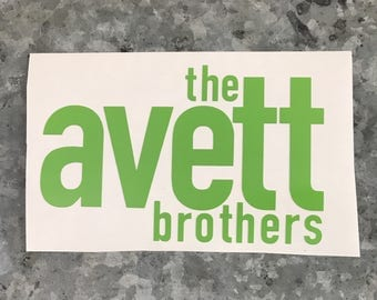 Avett Brothers Decal