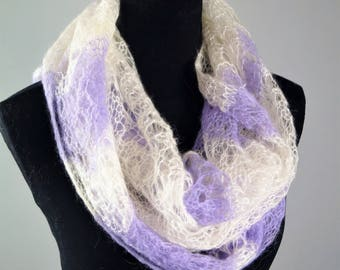 White Scarf,Purple Scarf,Wool Scarf,Bridal Shawl,Handmade Scarf,Wool Shawl,Handmade Scarves,Wedding Shawl,Women Accessories,Knitted Scarf