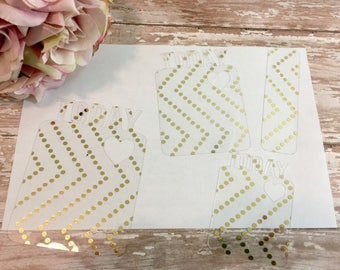 Gold Foil Polka Dots Acetate 'TODAY' Page Marker   Bookmark