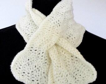 Keyhole Scarf - 100% acrylic, handmade, crocheted, cosy, warm, practical