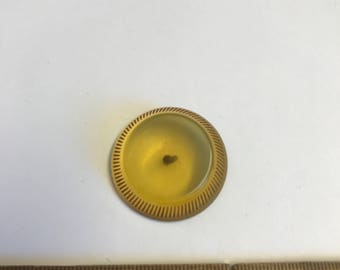Vintage Apple Juice Bakelite button